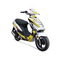 Jiajue - Scooter 50cc 2T - Spiro 50+ Édition Limitée 2017 - Série Spéciale - Blanc