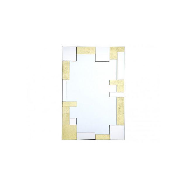 Miroir rectangle art déco AURIA - 60 x 90 cm- Doré