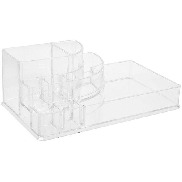 Promobo boite organisateur pour cosm tique 8 compartiments acrylique id al salle de bain pas for Organisateur salle de bain