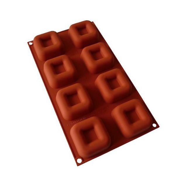 Guery Moule Savarins carrés 8 empreintes