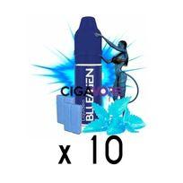 Liquideo - Lot 10 e-liquides Blue Alien 6 mg - 10 soit 4,5 euros le flacon 10