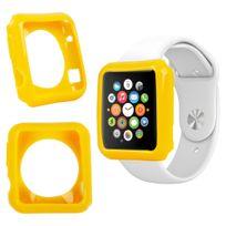 Duragadget - Coque de protection Jaune pour Apple Watch iWatch, montre écran 38mm