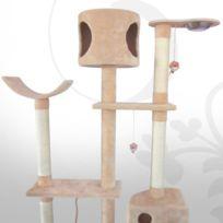 Leopet - Arbre à chat géant KBD015, gris avec motif pattes