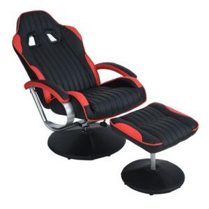 altobuy spiller fauteuil relax rouge et noir pas cher achat vente chaises rueducommerce. Black Bedroom Furniture Sets. Home Design Ideas