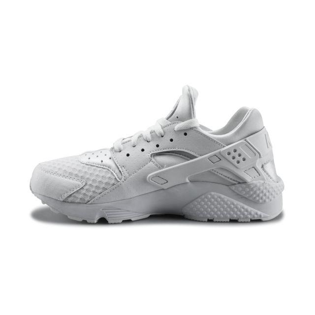 Nike Air Huarache Pure Platinum Blanc 318429 111 pas