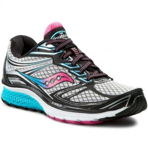 Saucony - Progrid Guide 9 Grise Bleue Et Rose Chaussures running femme