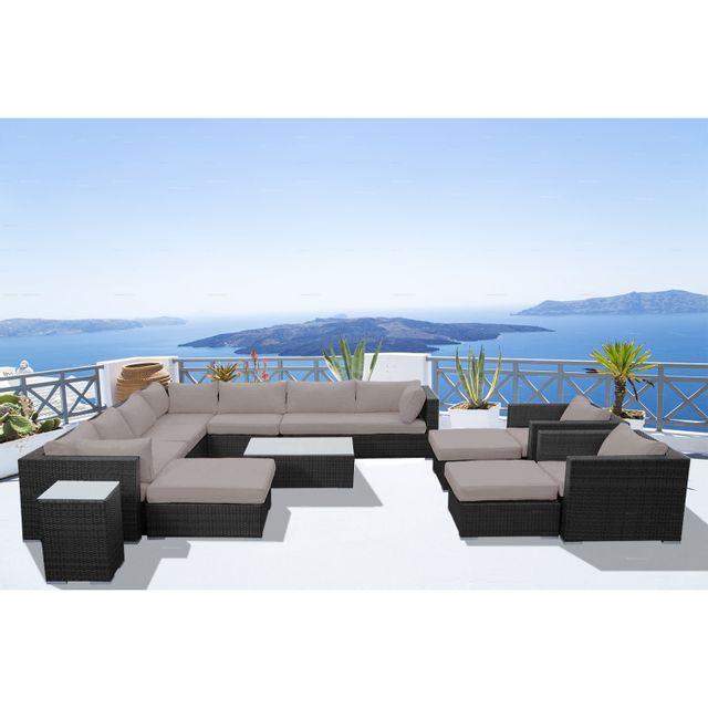CONCEPT USINE - Stalla: Salon de jardin 13/14 pers modulable en ...