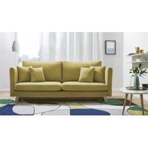 bobochic canap triplo 3 places convertible jaune 105cm x 76cm x 216cm achat vente. Black Bedroom Furniture Sets. Home Design Ideas