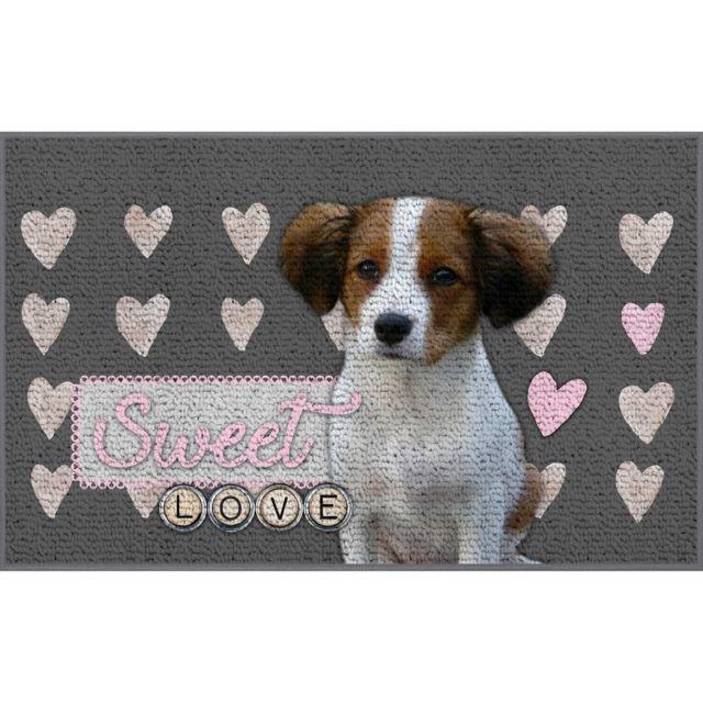 Linge Des Domes Cdaffaires tapis deco rectangle 50 x 80 cm imprime sweet puppy