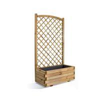 JARDIPOLYS - Jardinière en bois rectangulaire Lierre 80