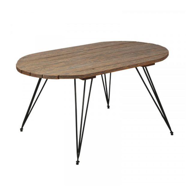 Dansmamaison Table basse piétement épingle - Elina - L 90 x l 54 x H 47 cm