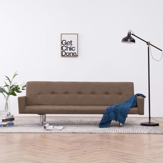 Joli Meubles edition Dacca Canapé-lit avec accoudoir Marron Polyester