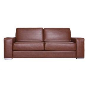 miliboo canap cuir convertible rapido 3 places camel. Black Bedroom Furniture Sets. Home Design Ideas