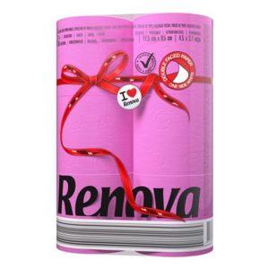 renova papier toilette couleur rose paquet de 6 rouleaux pas cher achat vente papiers. Black Bedroom Furniture Sets. Home Design Ideas