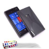 "Muzzano - Coque Souple Ultra-Slim ""Le X"" Premium Gris pour Nokia Lumia 920 + 3 Films de protection ?cran"