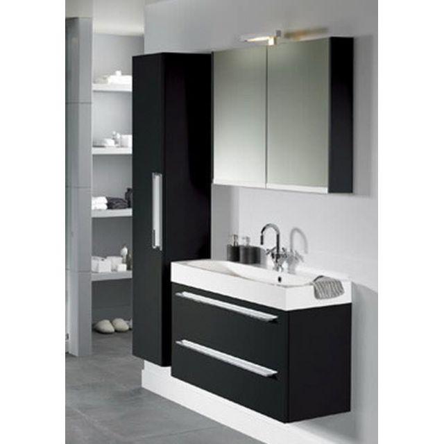 Riho Ensemble meuble & lavabo Slimline Set 65 en bois laqué brillant 80x38 H 60,5 cm