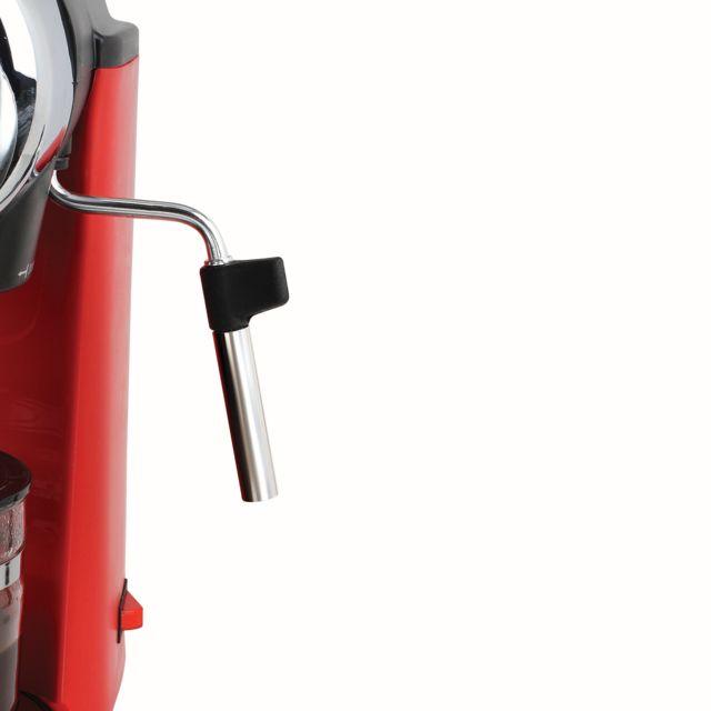 DOMOCLIP Machine à café expresso DOD159 Machine à café expresso - 3,5 bars - Réservoir 0,24 L soit 4 tasses - Percolateur pour café moulu - Interrupteur marche/arrêt - Plateau perforé amovible - Verseuse gradu&eacu