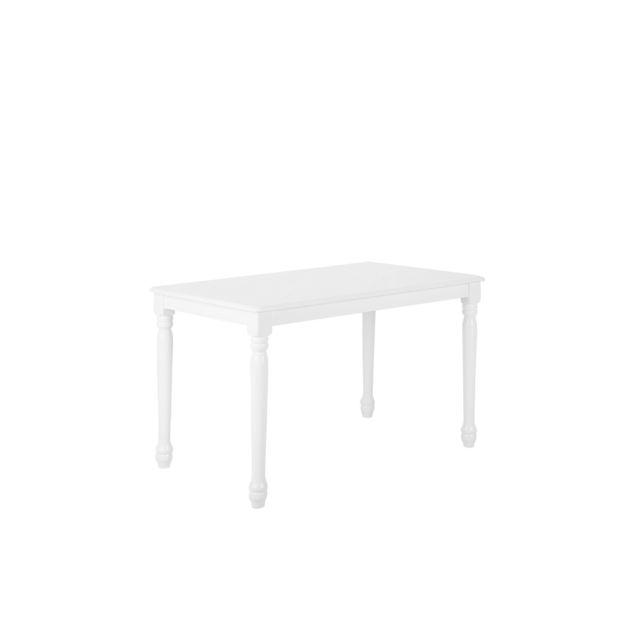 BELIANI Table blanche 120 x 75 cm CARY - blanc