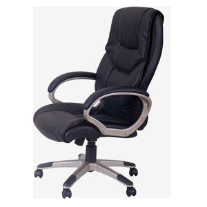 homcom chaise bureau luxe pivotant fauteuil ordinateur manager noir 00 pas cher achat. Black Bedroom Furniture Sets. Home Design Ideas