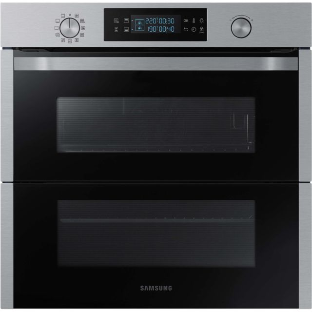 Samsung four intégrable double cavités 75l 60cm a+ pyrolyse inox - nv75n5671rs