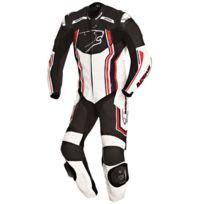Bering - combinaison moto Supra-r cuir homme entrainement et Pro noir-rouge Bcc031 4XL 58 Fr