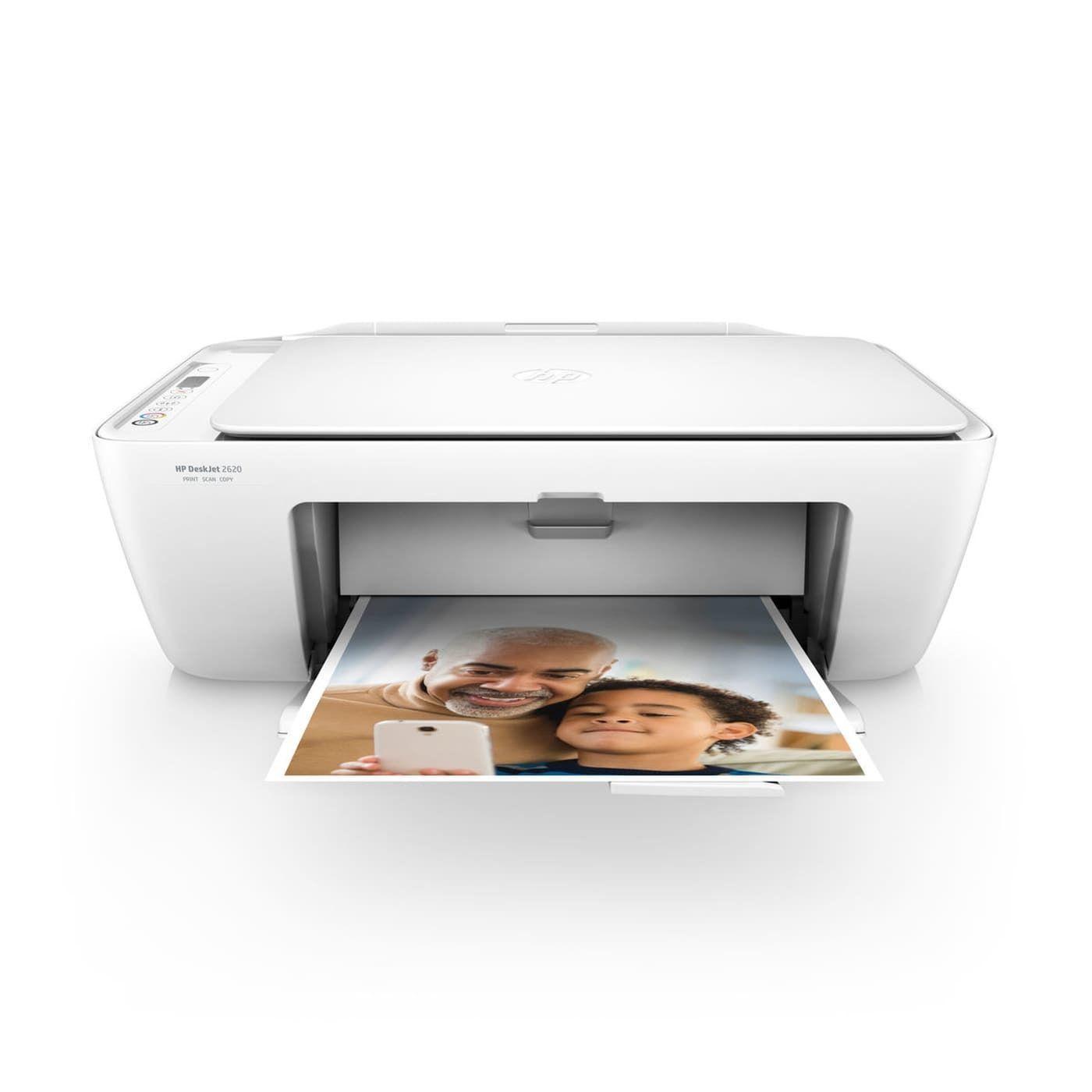 Imprimante multifonctions 4 en 1 Deskjet 2620 - Blanc