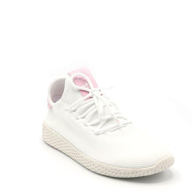 Adidas Basket Pw Tennis Hu W Blanc pas cher Achat