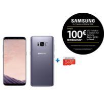 Samsung - Galaxy S8 - Orchidée + Micro SDXC EVO Plus 64 Go + Adaptateur SD