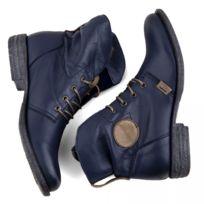 bottines cuir bleues femmes