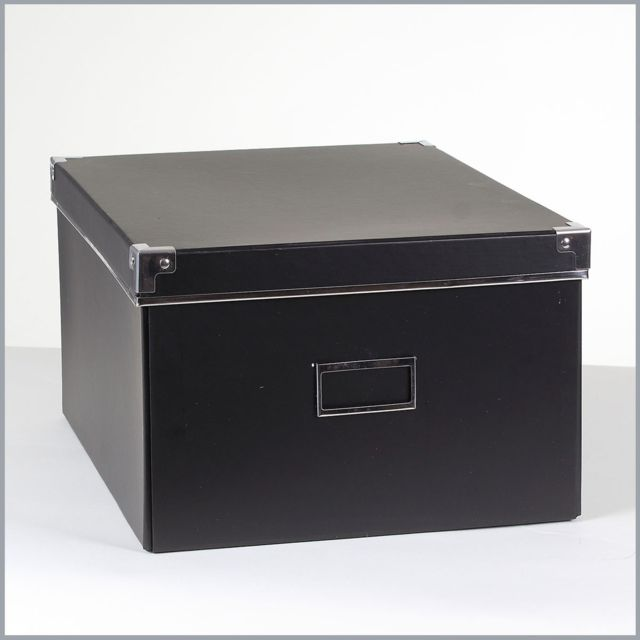 Casame - Boîte carton noir + métal - Petit modèle - pas cher Achat   Vente  Boîte de rangement - RueDuCommerce 7f84abcd3e19