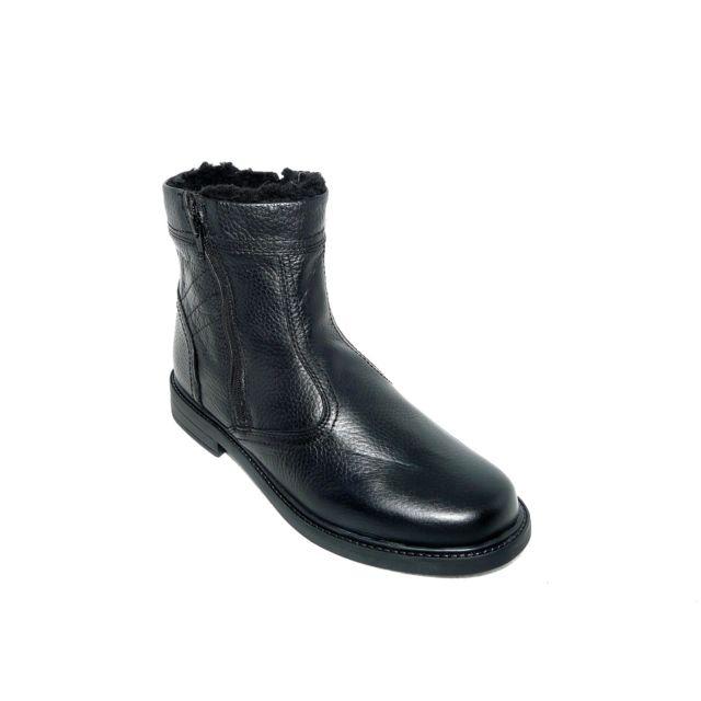 les dernières nouveautés magasins d'usine économies fantastiques Boissy - Bottillons chaussures homme hiver Cuir fourré noir ...