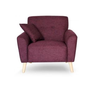 declikdeco fauteuil scandinave tissu bordeaux kimiya lie. Black Bedroom Furniture Sets. Home Design Ideas