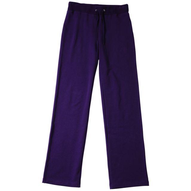 James   Nicholson - Pantalon jogging stretch Femme Jn555 - violet aubergine 1e3d4ca6a84