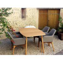 Résidence - Salon de jardin Lombok / Semarang - Dimensions - Table 1,70 m + 4 fauteuils