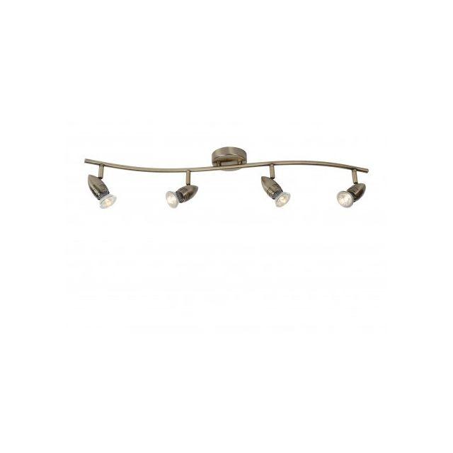 Lucide Caro-led - Spot Plafond - Led - Gu10 - 4x5W 2700K - Bronze