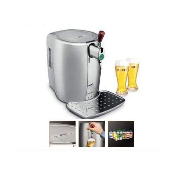 krups - tireuse a biere beertender silver + 2 verres yy2931fd - pas