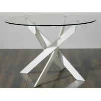 table salle manger verre ronde - Achat table salle manger verre ...