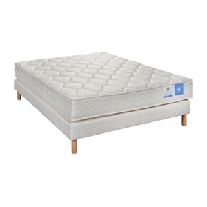 Lovea ensemble matelas sommier belle literie 90 140 160 cm latex nature - Ensemble matelas sommier 160 ...
