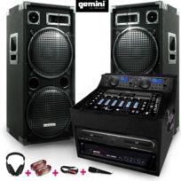 Gemini - Pack Pro sono 2x1000W Ampli Table Mix Lecteur Cd