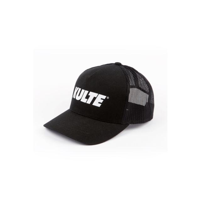 KULTE Casquette Corpo noir Casquette Trucker by KULTE noire avec le logo blanc