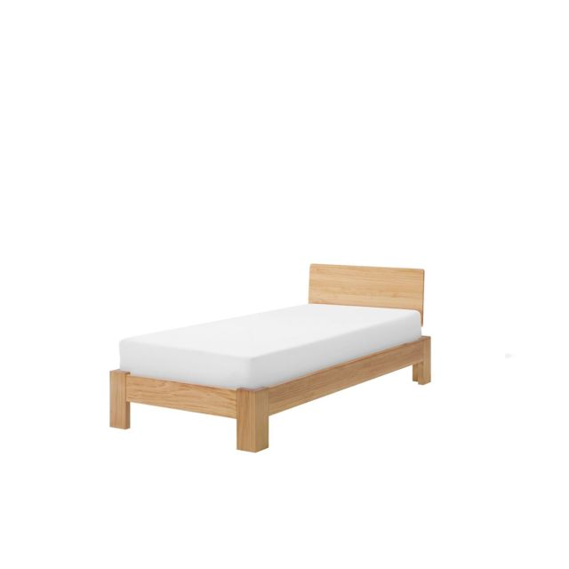 BELIANI Lit en bois clair 90 x 200 cm ROYAN - marron clair