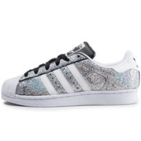 superstar toute rose pale superstar bandes holographique