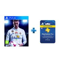ELECTRONIC ARTS - FIFA 18 - PS4 + Carte Playstation Plus - Abonnement 3 mois