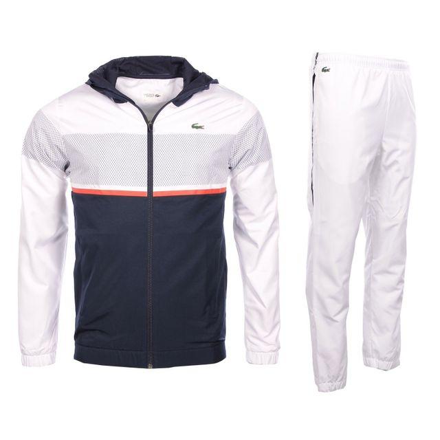 7414fb7ba1 Lacoste - Lacoste Sport - Homme - Ensemble de survêtements blanc et marine  Wh2092
