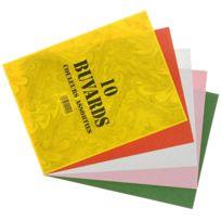 Coutal - papier buvard 16x21 125g coloris assortis - paquet de 10