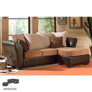 canap d 39 angle 3 places et 1 pouf exotique djerba achat. Black Bedroom Furniture Sets. Home Design Ideas