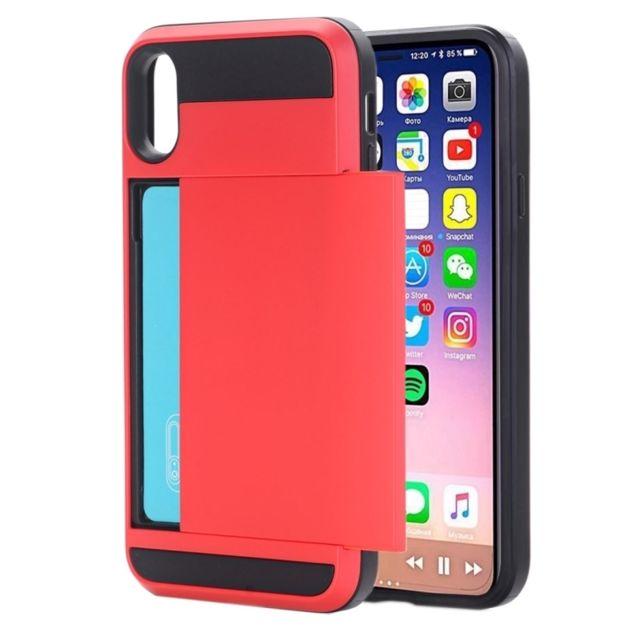 1d6f77c01e Wewoo - Coque renforcée rouge pour iPhone X Détachable Tpu + Pc Housse de  protection arrière