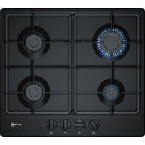 nouveau concept 84ce6 c8e8c table de cuisson gaz 60cm 4 feux noir - t26bb46s0