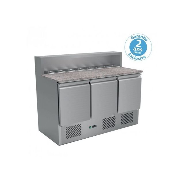 Furnotel Table Pizza Réfrigérée Gn 1/1 3 portes 400L