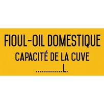 Editions Uttscheid - Fioul-oil domestique - Autocollant vinyl waterproof - L.200 x H.100 mm